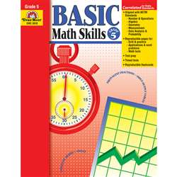 Basic Math Skills Grade 5 By Evan-Moor