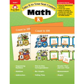 Take It To Your Seat Gr K Math Centers By Evan-Moor