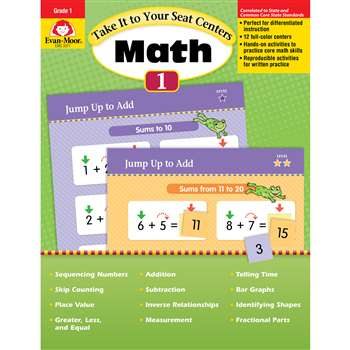 Take It To Your Seat Gr 1 Math Centers By Evan-Moor