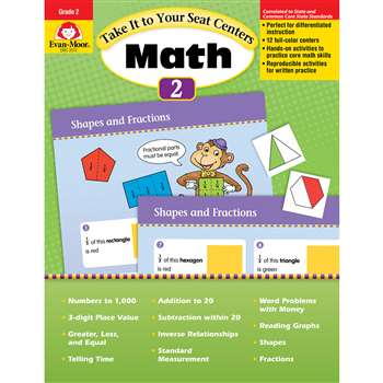 Take It To Your Seat Gr 2 Math Centers By Evan-Moor