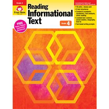 Shop Gr 4 Reading Informational Text Lessons For Common Core Mastery - Emc3204 By Evan-Moor