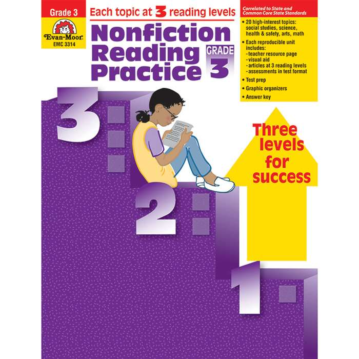 Nonfiction Reading Practice Gr 3 By Evan-Moor