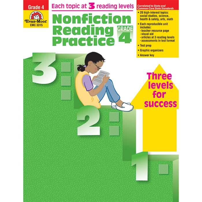 Nonfiction Reading Practice Gr 4 By Evan-Moor