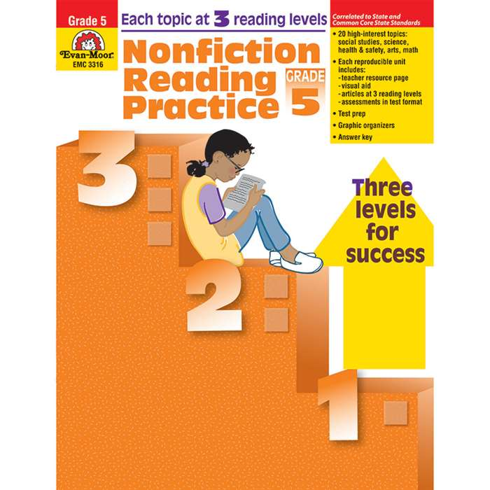 Nonfiction Reading Practice Gr 5 By Evan-Moor