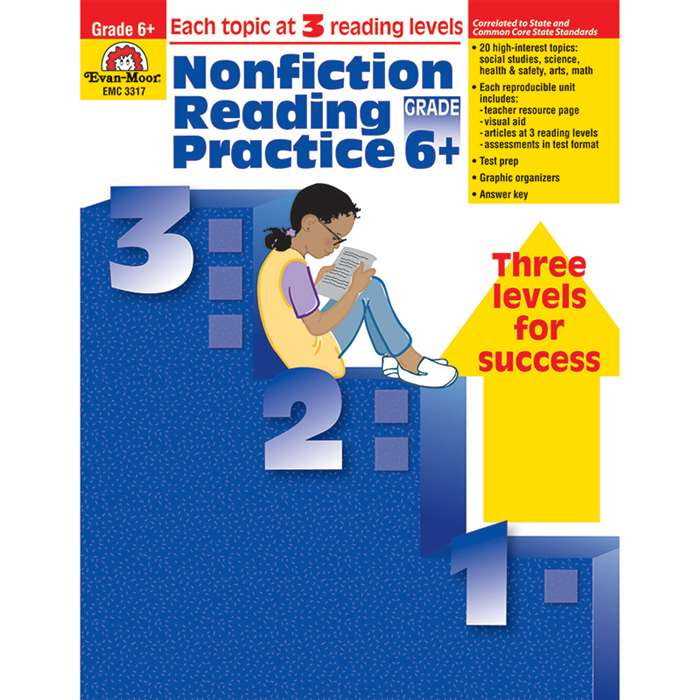 Nonfiction Reading Practice Gr 6 By Evan-Moor