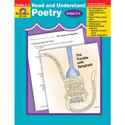 Read & Understand Poetry Gr 3-4 By Evan-Moor