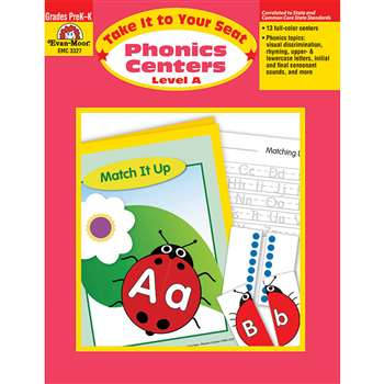 Take It To Your Seat Phonics Centers Level A By Evan-Moor