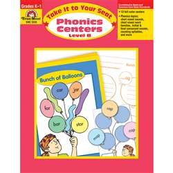 Take It To Your Seat Phonics Centers Level B By Evan-Moor