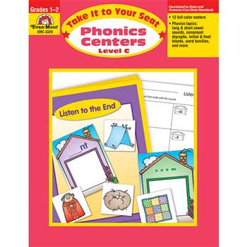 Take It To Your Seat Phonics Centers Level C By Evan-Moor
