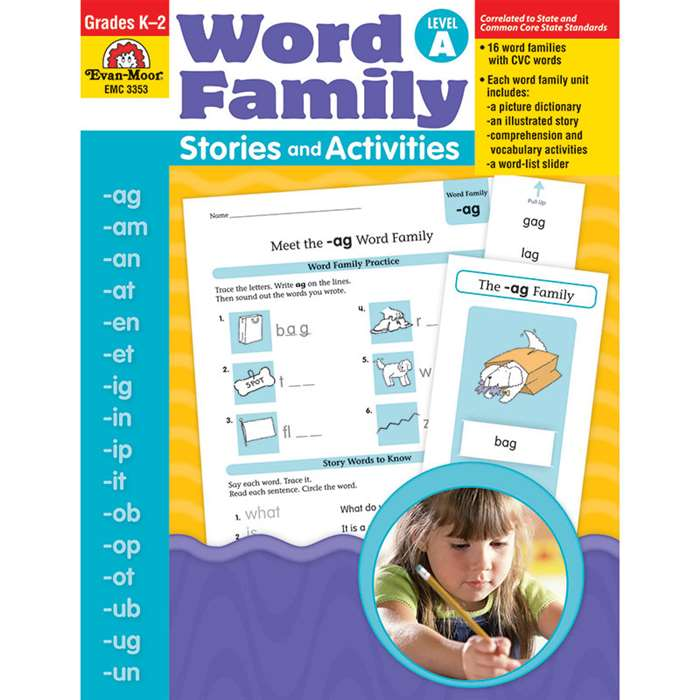 Word Fam Stories & Activities A By Evan-Moor