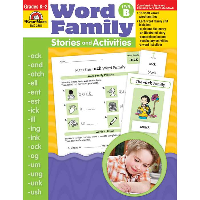Book Word Family Level B Stories & Activities By Evan-Moor