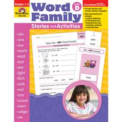 Book Word Family Level D Stories & Activities By Evan-Moor