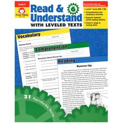 Read And Understand With Leveled Texts Gr 6+ By Evan-Moor