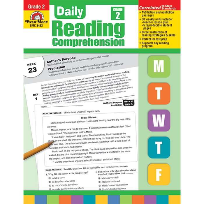Daily Reading Comprehension Gr 2 By Evan-Moor