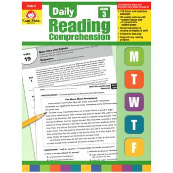 Daily Reading Comprehension Gr 3 By Evan-Moor