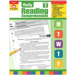 Daily Reading Comprehension Gr 4 By Evan-Moor
