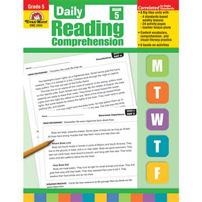 Daily Reading Comprehension Gr 5 By Evan-Moor