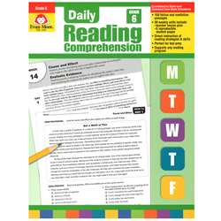 Daily Reading Comprehension Gr 6 By Evan-Moor