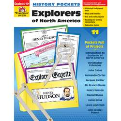 History Pockets Explorers Of North America By Evan-Moor