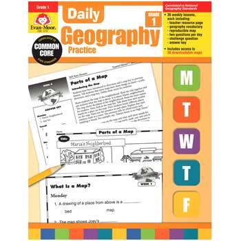 Daily Geography Practice Grade 1 By Evan-Moor