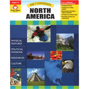 7 Continents North America By Evan-Moor