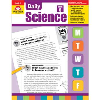 Daily Science Gr 6 By Evan-Moor