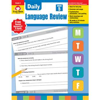 Daily Language Review Grade 5 By Evan-Moor