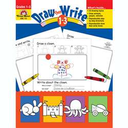 Draw Then Write Grade 1-3 By Evan-Moor