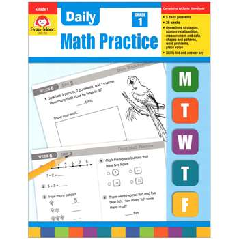 Daily Math Practice Grade 1 By Evan-Moor