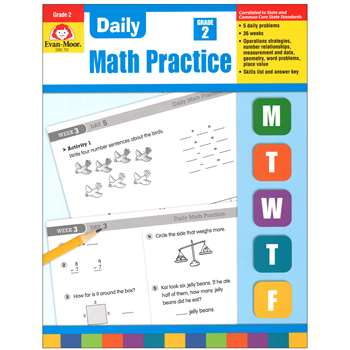 Daily Math Practice Grade 2 By Evan-Moor