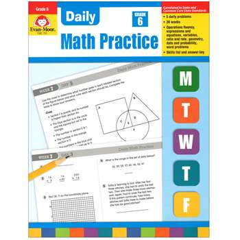 Daily Math Practice Grade 6+ By Evan-Moor