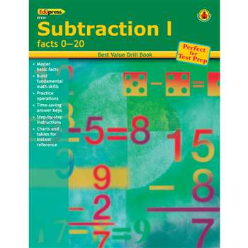 Subtraction 1 Facts 0-20 By Edupress