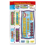 Happy Birthday Owls Bulletin Board Set By Edupress