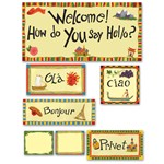 Multicultural Hello Bulletin Board Set By Edupress