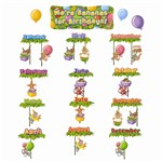 Were Bananas For Birthdays Bulletin Board Set By Edupress
