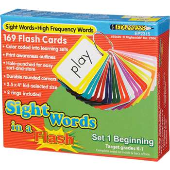 Sight Words In A Flash Set 1 Gr K-1 Beginning By Edupress