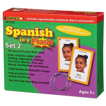 Spanish In A Flash Set 2 By Edupress