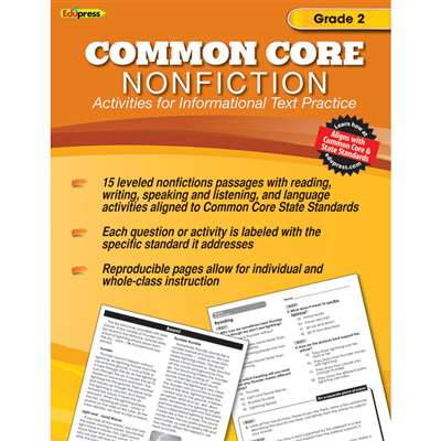 Shop Common Core Nonfiction Book Gr 2 - Ep-2351 By Edupress