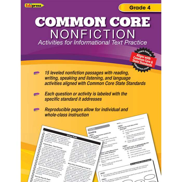 Shop Common Core Nonfiction Book Gr 4 - Ep-2353 By Edupress