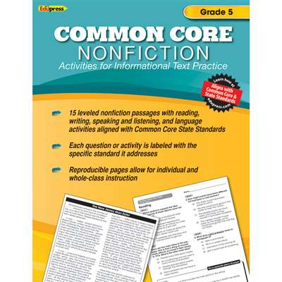 Shop Common Core Nonfiction Book Gr 5 - Ep-2354 By Edupress