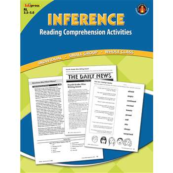 Inference Comprehension Book Blue Level By Edupress