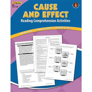 Cause Effect Comprehension Book Blue Level By Edupress