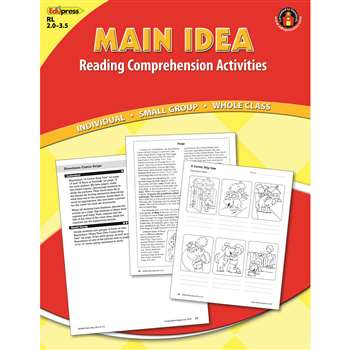 Main Idea Comprehension Book Red Level By Edupress