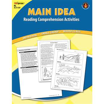 Main Idea Comprehension Book Blue Level By Edupress