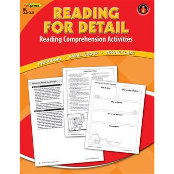 Reading Detail Comprehension Bk Red Level By Edupress