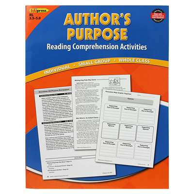 Authors Purpose Book Blue Level By Edupress