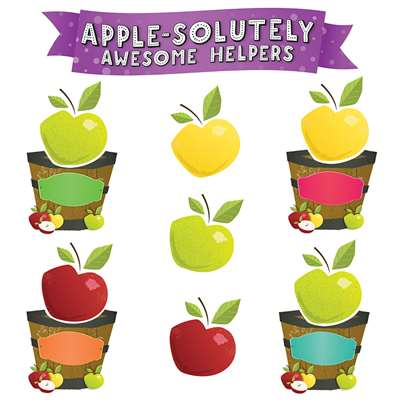 Awesome Apples Job Chart Mini Bulletin Board Set, EP-239