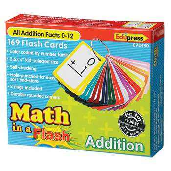 Math In A Flash Addition Flash Card By Edupress