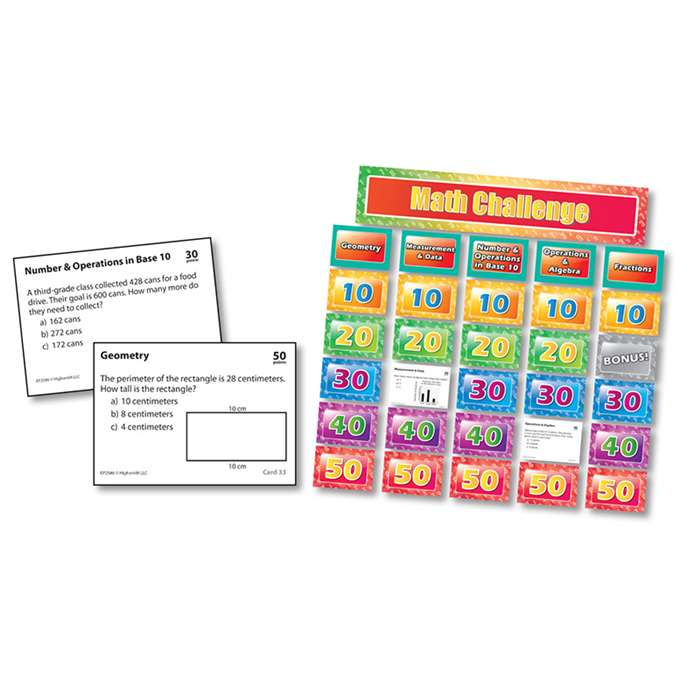 Math Pocket Chart Game Gr 3 By Edupress