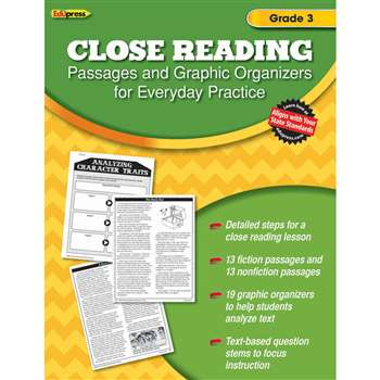Close Reading Practice Book Gr 3, EP-2561